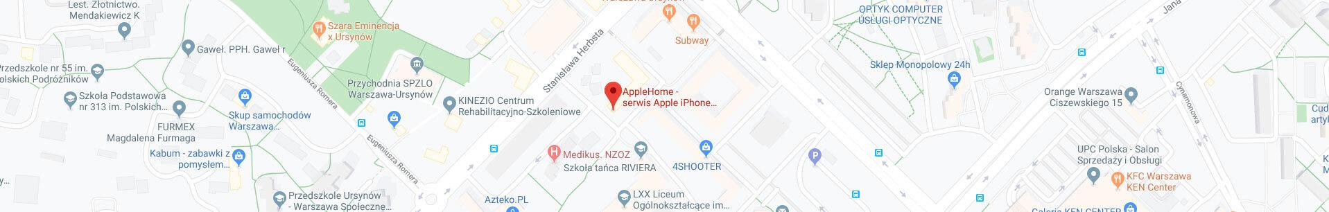 Lokalizacja naszego serwisu Apple w Warszawie